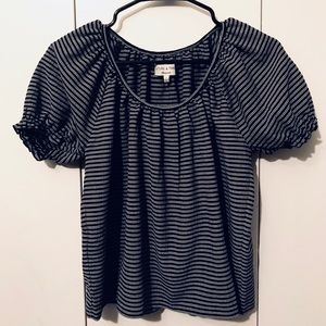 Madewell - Black and White striped Top